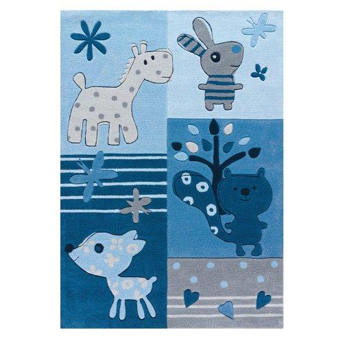 Sam Kuscheltiere blau Kinderteppich arte espina 4151-53, Größe:110*160cm