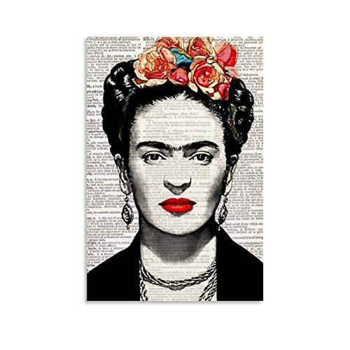 yuhui Poster vintage sur toile Frida Kahlo - Art mural - Impression moderne - Décoration de chambre de famille - 30 x 45 cm