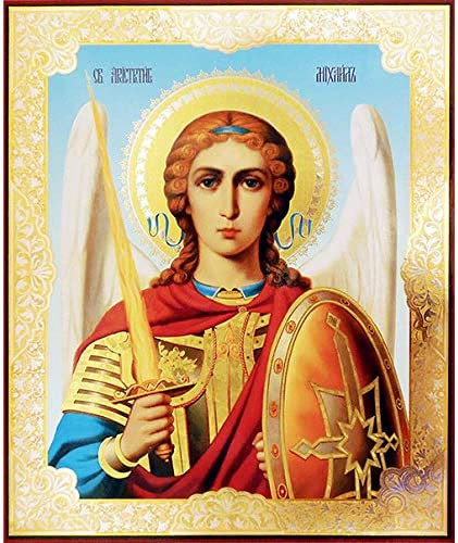 World Faith Russian Icon St Michael The 7 17 Los Angeles Mall 8 13-1 Max 63% OFF Archangel x
