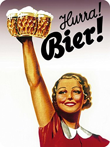 Hurra Bier ! Blechschild 30x40 cm 303/166