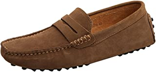 MGM-Joymod Men's Slip-on Suede Driving Moccasin Penny Loafers Boat Shoes
