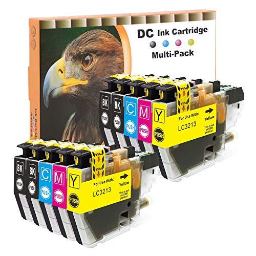D&C 10x Druckerpatronen Kompatibel für Brother LC3213 LC-3213 für Brother DCP-J572DW DCP-J772DW DCP-J774DW MFC-J491DW MFC-J497DW MFC-J890DW MFC-J895DW (4x Schwarz,2x Cyan,2x Magenta,2x Gelb, 10-Pack)