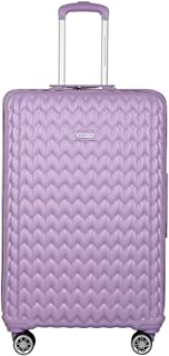 United Colors of Benetton Knit Structure ABS 77 cms Pink Hardsided Check-in Luggage (0IP6MP28HL08I)