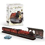 Revell 3D Puzzle 00303 Hogwarts Express, Tren con Tren de Tren de 9 ¾ ¾ y el Coche Volador Harry Potter Mundo como Rompecabezas 3D para Toda la Familia, Colores