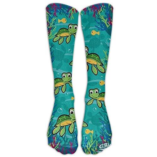 Rockboy Hawaiian Baby Turtle Kniestrümpfe für Damen & Herren Best Medical, Nursing, Travel und Flight Socks Running und Fitness Long: 50CM