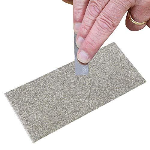 Jewboer Thin Diamond Knife Tool Sharpening Stone Square Plate Whetstone 80-3000 Grit (3000 Grit)