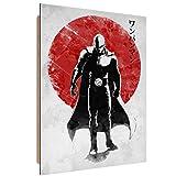 Feeby. Wandbilder - 1 Teilig- 40x60 cm - Bilder Kunstdrucke Deko Panel, One Punch Hero - DDJVigo, Anime, ROT