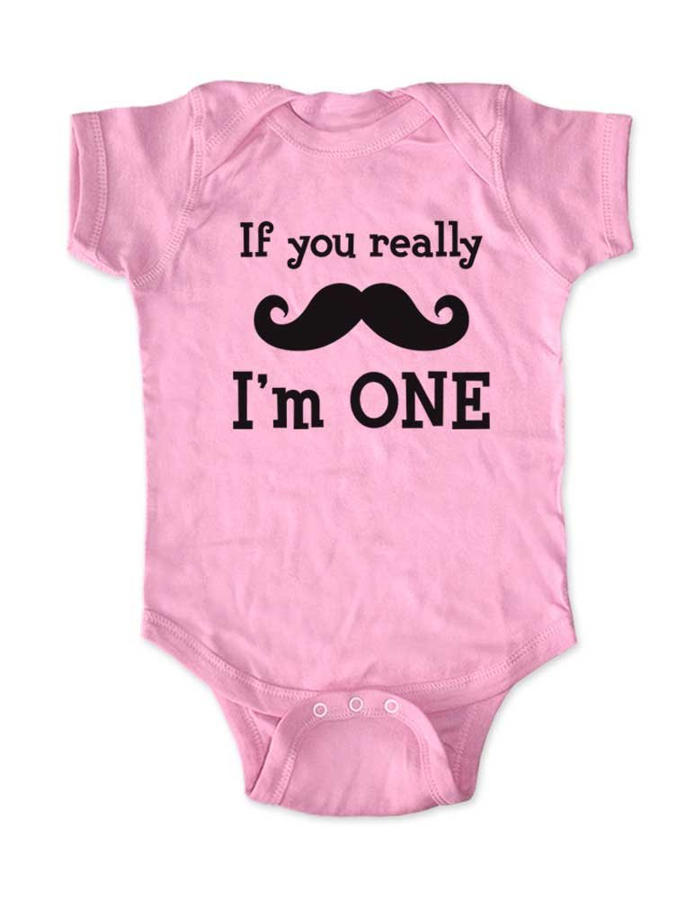 Baby Infant 24 month White T Shirt  If You Mustach I/'m One Pullover Onesie Customized Children/'s Clothing Nursery Rhyme /& More