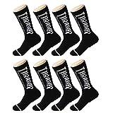 LVYY Sportsocken 8 Paare Baumwolle atmungsaktiv Feuchtigkeit Wicking Mannschaft Socke (Color : Black, Size : 8 Pairs)