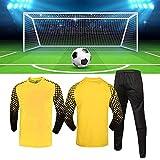 JSPT Maillot de Gardien de But de Football Tenues de Protection Anti-Collision SuitPardes de Gardien de But de Football Personnalisable,Blue,S(130-150cm) Height