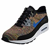Nike WMNS Air Max 90 Ultra 2.0 Flyknit - Black/Medium Blue - Cool Grey - White,...