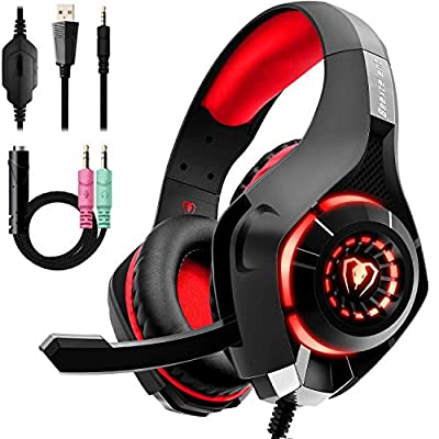 Beexcellent Gaming Headset with Noise Canceling mic, PS4 Xbox One Headset with Crystal 3D Gaming Sound, Memory Foam Earpad for PC, Mac, Laptop, Mobile from Beexcellent
