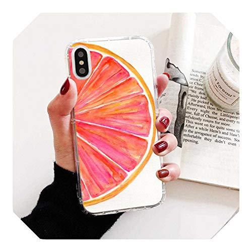 Carcasa de silicona para iPhone 11 Pro 4 4S 5 5S SE 5C 6 6S 7 8 X XR XS Plus Max Para iPod Touch Verano Fruta Limón