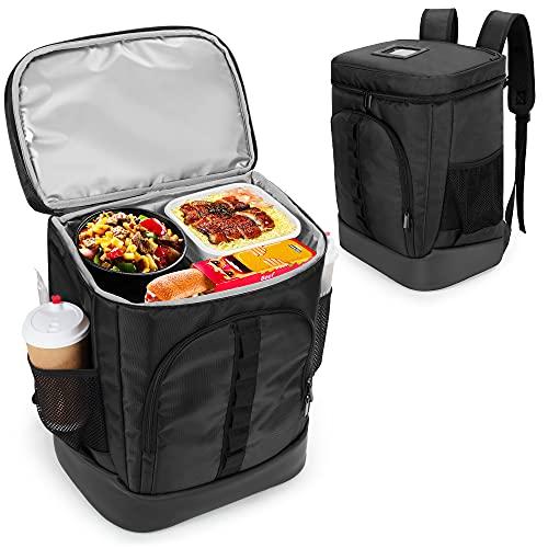 Trunab Mochila aislada para entrega de alimentos, bolsa térmica reutilizable a prueba de fugas para la entrega de bicicletas, Uber Eats, Doordash, playa, camping, picnic