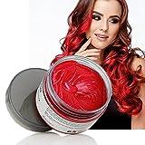 HailiCare 120g Rot Haarwachs Männer und Frauen Professionelle Haar Pomaden, Temporäre Haarfarbe...