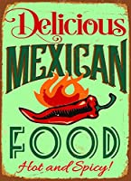 メキシコ料理 金属板ブリキ看板警告サイン注意サイン表示パネル情報サイン金属安全サイン