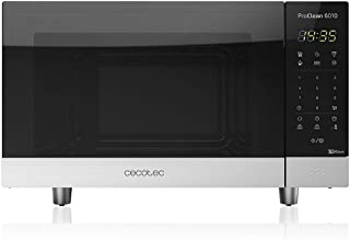Cecotec Microondas negro ProClean 6010. 800 W, Capacidad de 23 Litros, Revestimiento Ready2Clean para una mejor limpieza, Panel de control y tecnología 3DWave, Control Táctil