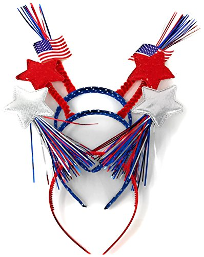 12 Bulk Patriotic Head Bopper Party Hats - Ideal for 4th of July Party Favors, Memorial Day BBQ,...