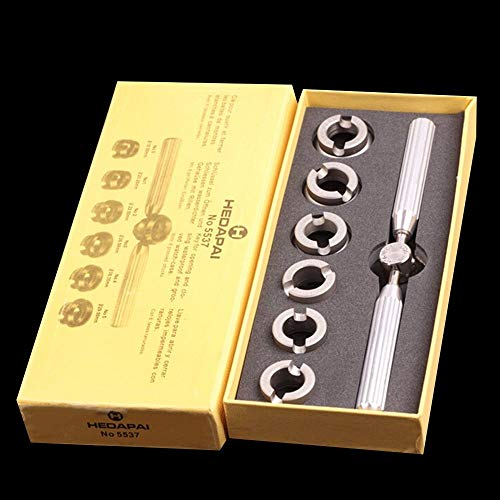 Removedor de la Cubierta del abridor de la Caja Trasera para Rolex para el Kit de Herramientas de reparación de Relojes Tudor, exquisitamente diseñado y Duradero (Plateado)