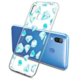 Oihxse Mode Motif de Diamant Case Compatible pour Samsung Galaxy J7 Duo 2018 Coque Silicone Ultra...