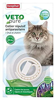 Beaphar - VETOpure, collier répulsif antiparasitaire - chat et chaton - blanc