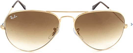 Ray-Ban RB3025 Aviator Sunglasses, Gold/Brown Gradient, 55 mm