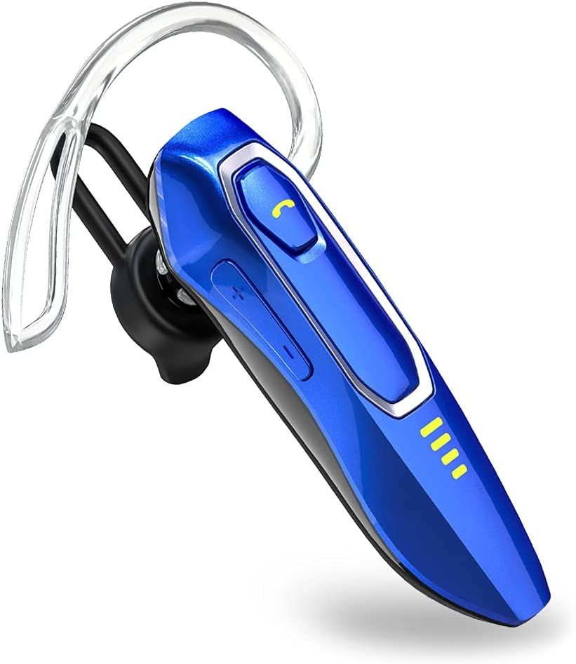 Auriculares Manos Libres V5.0 con Micrófono, Voz HD, 30 Hrs Talking y 15 Días en Espera, Auricular Bluetooth Inalámbrico para Movil para Negocios