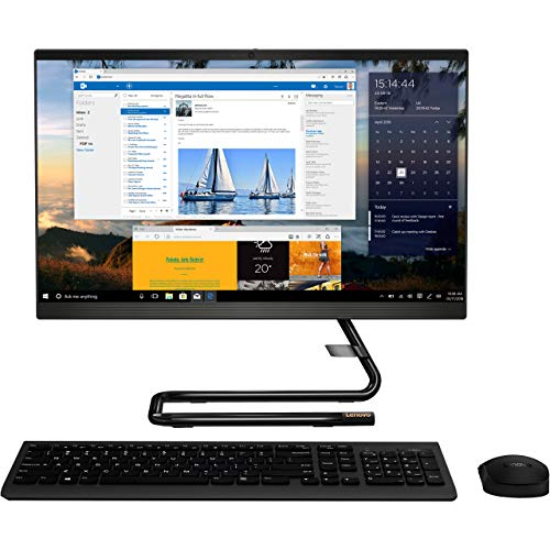 Lenovo IdeaCentre A340-24IWL (F0E8009QUK) 23.8' Full HD All in One Desktop PC (Black) (Intel Core i5-8265U, 8GB RAM, 1TB HDD+128GB SSD, Windows 10 Home)