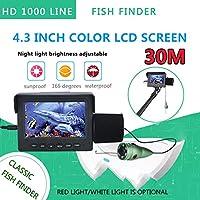 釣りのため1200TVL魚のファインダー水中釣りカメラ4.3インチモニター6PCS 6W IR LEDナイトビジョンカメラ,30M
