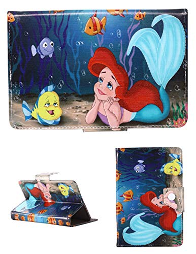 Avengers & Ariel Mermaid Universal Tablet Case 7 7' 8 8' 9.7 9.7' 10.1 inch Cover For Boys & Girls Kids (Universal 10' (10.1' Inch), Beautiful Ariel Mermaid)