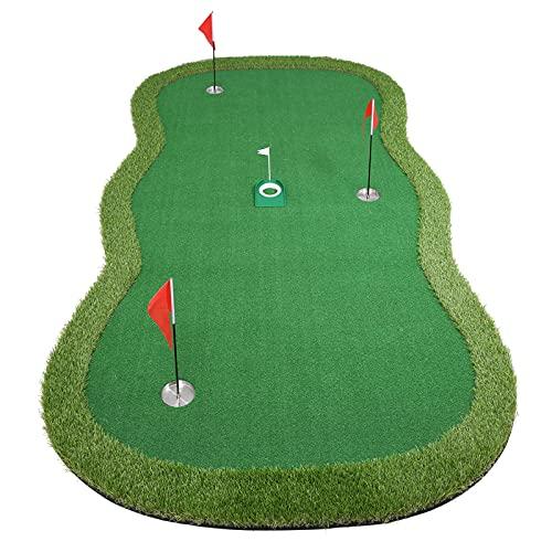 Chriiena Golf Putting Green, Practice Putting Green Mat, Large Professional Golfing Training Mat for...