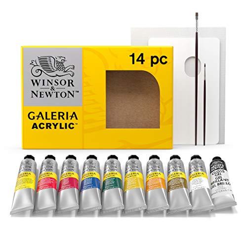 Winsor & Newton Galeria Set Completo De Pintura Acrílica, Multicolor