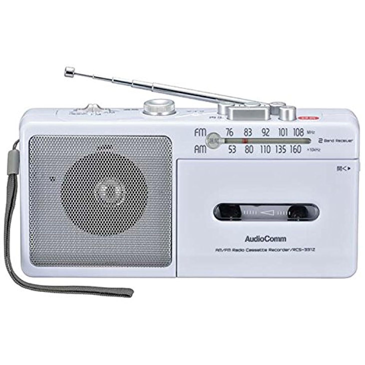 イルコンパスセレナ携帯ラジオ 小型 ラジオ おしゃれ 電池式 録音 モノラル カセット レコーダー 1年保証 AM/FM 防災グッズ 長時間 かわいい ヘッドホン端子 シンプル 持ち運びに便利 アンテナ