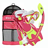 U.S. Divers Youth Buzz Junior Snorkeling Set, Pink Neon - Large