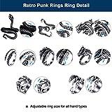 Immagine 2 hicarer 8 pezzi anelli punk