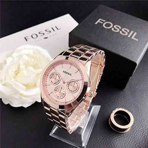 SANDA Relojes Mujer,Vestido de muñeca de Cuarzo Relojes de Mujer Pulsera de Plata Reloj de Mujer Reloj de Acero Inoxidable Reloj Casual para Mujer-con Caja