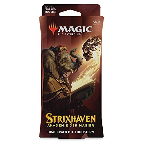 Magic The Gathering Strixhaven 3 Booster Draft-Pack (versión Alemana) (Wizards of The Coast C97611000)