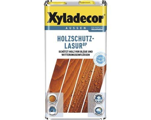 Xyladecor Holzschutz-Lasur BP Bläueschutz Dünnschichtlasur, UV-Schutz Imprägnierwirkung 5 Liter Farbwahl , Farbe:Pinie