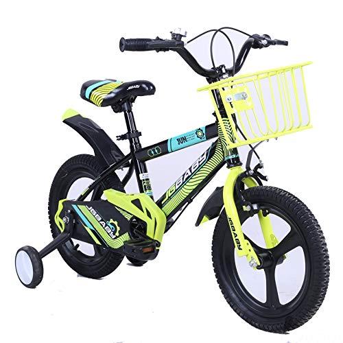MXSXN Freestyle Bicicletas para Niños Y Niñas Ruedas De Una Pieza Bicicletas para Niños Bicicleta, 12 14 16 Pulgadas, Altura Ajustable, Andar, Caminar, Aprender, Scooter con Estabilizador,16'