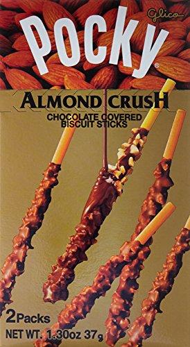 Glico Pocky Chocolate with Almond Crush Cream Covered Biscuit Sticks 1.37oz