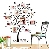 Smartcoco DIY Large Family Tree Wall Decals Photo Frame Tree Flower Stickers Living Room Home Decor Wall Sticker