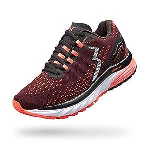 361 Women's Strata 3 Running Shoe (9 M, Black/Hazard)