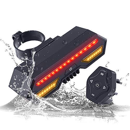 Fietsachterlicht, waterdicht, USB-oplader, led, Riding Signal Mountain-Auto-eindstuk, intelligente waarschuwingslamp, schakel met draadloze Smart afstandsbediening, 2200 mAh accu met grote capaciteit