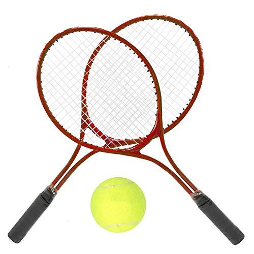 Vbest life Raqueta de Tenis Junior de 24 Pulgadas, Juego de Tenis para niños Accesorio de Raqueta Traning Accesorio de Deporte al Aire Libre Raqueta de Tenis con Bolsa de Transporte(Rojo)