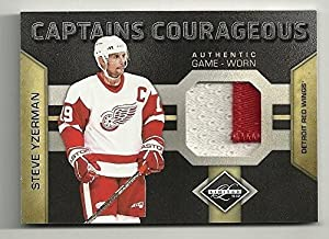 2011-12 Panini LIMITED #5/5 Captains Courageous STEVE YZERMAN - Panini Certified - Hockey Game Used Cards