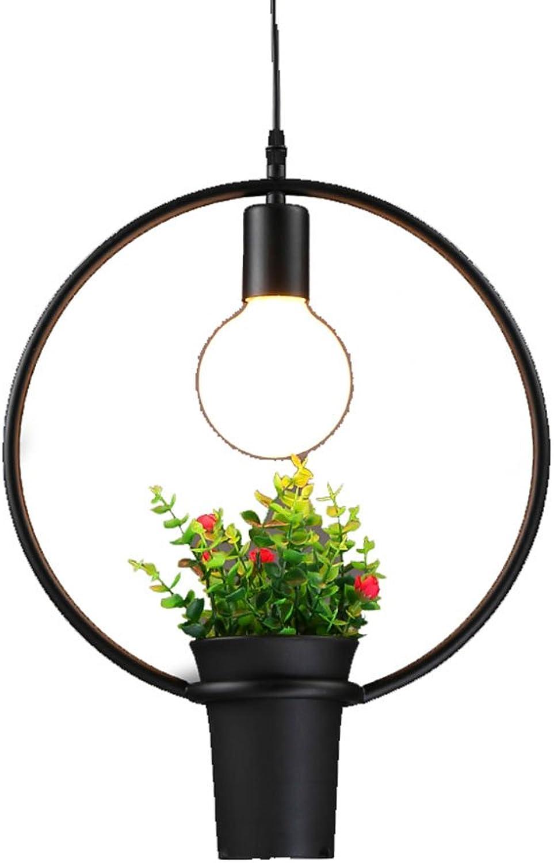 éclairage Lustre - lustre industriel vintage en fer forgé Lustre décoratif simple tête (33cm  40cm) lumières intérieures (Couleur   A-Lumière blanche)