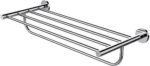 Handdoek plank met handdoek bar rack organizer voor badkamer 23.6 inch roestvrijstalen moderne muurbevestiging helder zilver