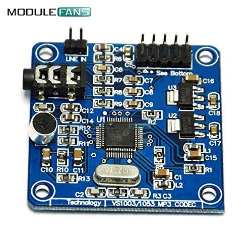 VS1053 VS1053B MP3-Modul Development Board AufzeichnungsFunktion SPI-SchnittStelle OGG Codierung Aufnahme Steuerung Signal Filter