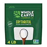 Whole Earth Sweetener Co. 100% Erythritol, 4 Pound Pouch, Natural Sugar Alternative, Baking Substitute, Zero Calorie, Gluten Free, Non-GMO, Keto