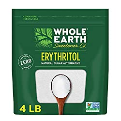 Whole Earth Erythritol: Erythritol is a great alternative to sugar for those who want sugar-like sweetness and texture without the calories. Our erythritol is a sugar alcohol derived from non-GMO corn Plant Based Sweetener: Whole Earth 100% Erythrito...